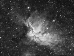 NGC 7380 - Wizard Nebula in H-alpha (Isbeorn86) Tags: nebula astrophotography deepsky ngc7380 wizardnebula