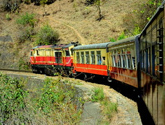 Indian Railways : UNESCO World Heritage Railway, NG Himalayan Queen Express on a sharp curve descending towards Kandaghat ! (Clicker Purnava) Tags: road railroad travel india mountain mountains nature beautiful beauty speed train landscape ir shimla amazing track afternoon diesel indian awesome hill extreme ngc transport rail railway sunny loco unesco hills traveller explore rails locomotive express passenger curve incredible nr railways unescoworldheritage railfan himachal worldheritage himachalpradesh outstanding descending kalka klk indianrailways natgeo northan narrowguage sml negotiating railfanning indiatravel solan cools irfca barog railfans incredibleindia trainwatchers himalayanqueen 52456 indialove ferroequinologist worldtrains zdm3 discoveryindia trainsworldwide railwaylovers heavenlyhimachal northanrailway
