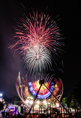 Eyes to the Skies Hot Air Balloon Festival (Jovan Jimenez) Tags: fireworks firework eos m3 22mm eosm3 night lights long exposure ride stm sky festival light carnival efm 4th july lisle expo mirrorless star color colors hues hue rainbow canon