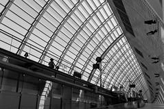 La voyageuse (bong.13) Tags: gare tgv avignon architecture lignes lumire train vaucluse france noiretblanc blackandwhite provence nikon d3200 graphisme graphique