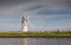 Thurne (Sarah_Brooks) Tags: thurne windpump windmill river broadlands thebroads norfolkbroads suffolk boats waterscape riverside blades cormorant