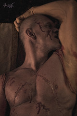 Frankenstein (tim_asato) Tags: timasato evgenykhorin lorealonso makeup maquillaje male model modelo masculino pecs abs muscle musculo bold calvo sexy sex hot hunk trunk jock stud pit handsome guapo scary erotic erotico monster monstruo frankenstein scars cicatrices blood sangre portrait retrato bicep guy boy chico hombre man men