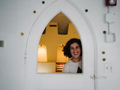 Analise (BurlapZack) Tags: door portrait art window smile artist gallery arch artgallery doorway frame citrus lime limes fibers artinstallation dallastx texastheatre pack01 oakclifftx artistinstallation vscofilm olympusmzuiko17mmf18 olympusomdem5markii saferoomgallery aysiyoursky