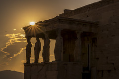 We are made by history. (iosif.michael) Tags: sunset sun sunlight history sony magic athens greece acropolis a7 karyatides