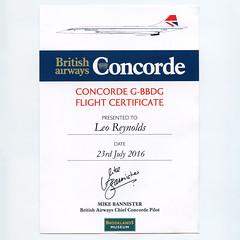 Concorde Certificate (Leo Reynolds) Tags: xleol30x scan certificate concorde xxx2016xxx