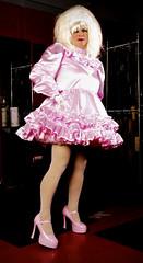 Pink Satin Sissy 7 (jensatin4242) Tags: sissy crossdresser transvestite jensatin satin frilly