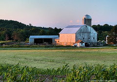 Wisconsin Barn at Sunset (David C. McCormack) Tags: sunset summer wisconsin barn rural corn midwest farm country barns fields americana dairy sunriseset