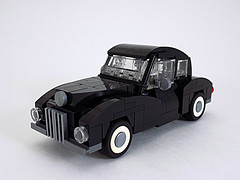 Early '40s Car (cmaddison) Tags: black car sedan toy town lego 1940s vehicle