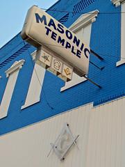 Masonic Temple, Missouri Valley, IA (Robby Virus) Tags: missourivalley iowa masonic temple lodge valley 232 afam free associated freemasons masons fraternal organization sign signage