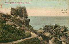 Lands End (mgjefferies) Tags: england cornwall landsend penzance postcard 1911