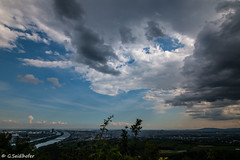 Clouds Vienna (Gregor Seidlhofer) Tags: austria city clouds rain sun halo vienna leopoldsberg