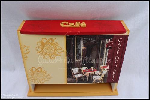 """Caixa vertical para cápsulas Dolce Gusto """"Café Paris"""""""