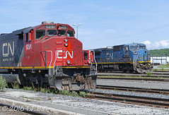 CN 5291 (Ramblings From The 4th Concession) Tags: panasonicfz1000 capreolont cnrail cn5291 sd402w emdlocomotives