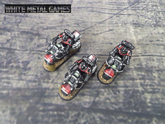 Black Red Marines (whitemetalgames.com) Tags: space marines 40k 40000 commission painting painted service services tau hex red bikes bikers command squad champion captain apothecary attack bike wmg white metal games raleigh nc north carolina hobby