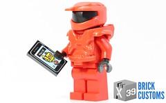 Printed Phones! (X39BrickCustoms .com) Tags: lego custom printed mark 5 halo iphone phones printing tiles app armor helmet