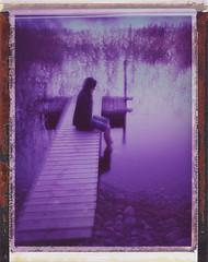 At night (Maija Karisma) Tags: polaroid littlebitbetterscan pola instant polaroid180 nature 689 peelapart expiredfilm