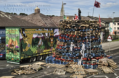 Jungle Playground ! (James Whorriskey (Delbert Jackson)) Tags: jameswhorriskey jameswhoriskey delbertjackson derry londonderry uk ulster ireland northernireland photo photograph photographer picture aroundus impressionsexpressions catchycolors jameswhorriskeyphotography colour art print bogside bonfire masked men youths petrol bombs august 15th jungle playground