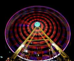 DSC02297 (Moodycamera Photography) Tags: canadiannationalexhibition cne toronto ontario nightphotography rides slowshutterspeed long exposurerlights ferriswheel swing turning twisting spining amusment horse hdr