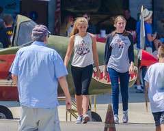 Girls at Air Show (Kevin MG) Tags: usa ca ventura camarillo airshow airport event girls young youth cute pretty little adolescent preteen