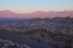 Chile- Atacama desert- Valle de la luna at sunset (venturidonatella) Tags: chile america latinamerica atacama atacamadesert desert deserto landscape panorama paesaggio colori colors nikon nikond300