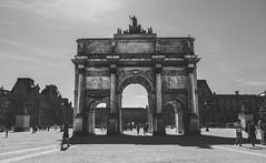 Arc (pinhead1769) Tags: france building blancoynegro monument blackwhite arc replica francia arco triunfo parís bwdreams museodellouvre