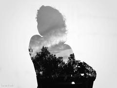 I'm Looking Through You (Luan Ricardo L.) Tags: portrait white black blanco nude soft retrato negro ricardo doble exposicin luan