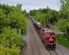 CP 8936 solo (Michael Berry Railfan) Tags: train quebec montreal canadianpacific cp ge generalelectric freighttrain gevo es44ac montrealwest oiltrain fueltrain crudeoiltrain cp8936 adirondacksub cp551