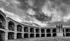 Fort Popham (Me in ME) Tags: bw maine canon5d kennebecriver fortpopham phippsburg pophamcolony silverefex lightroom5