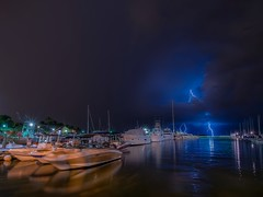 Just in time (karinavera) Tags: travel light storm clouds port marina ship miami thunderstorm coralgables nikond5300