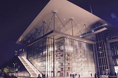 Urban Light (gblaxos) Tags: architecture light night city greece athens building glass steel engineer