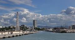 LUNGO IL CANALE (GRAZIE PER LA VISITA) Tags: sea clouds nikon nuvole mare rimini romagna nikkor18200vr nikond90 vistasulmare
