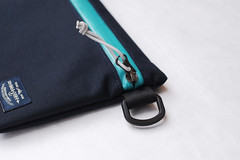 Flat Pouch Aqua 04 (Imagery Bags) Tags: zipper ykk waterresistant flatpouch drypouch