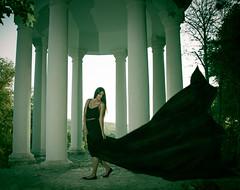 Black Dress (www.Michie.ru) Tags: park black cute green art girl beautiful beauty model dress modeling longhair kawaii speedlight moldova blackdress strobist  japanesephotographer michieru