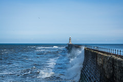 Tynemouth Pier (NickeiG) Tags: sea newcastle photography pier nikon north rough tynemouth seas lightroom choppy d5200