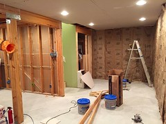 Basement Remodel (devinaodom) Tags: drywall carpentry doors trim flooring electrical carpet painting construction remodeling interiordesign audiovisual homeimprovements thehomedepot lowes