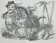 Vignette, Mr Punch the hunter! - Punch 1873 (AndyBrii) Tags: punch 1873 wit satire woodcuts engravings