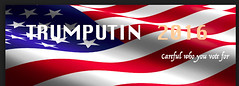 Trumputin (Dave Redman pics) Tags: putin trump usa election american 2016 voting decal washington politics sabotage image flag democrat republican convention bumpersticker ironon