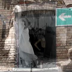 Notausgang / Emergency exit (krinkel) Tags: hochzeit white fest wedding mehrfachbelichtung multipleexposure collage digital feast marriage paar couple notausgang emergencyexit emergency