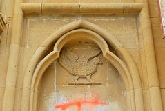 Byzantine rooster (orientalizing) Tags: 19thcentury abandoned agiosgiorgios bird church cyprus guzelyurt morfou morphou neogothic northerncoast northerncyprus parishchurch plundered1974 reliefcarving rooster ruins stgeorge turkishoccupiedcyprus vandalism spolia