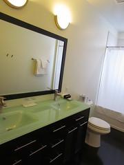The Bathroom in My Suite at the Mayton Inn -- Cary, NC, July 3, 2016 (baseballoogie) Tags: maytoninn nc northcarolina hotel room hotelroom 070316 baseball16 canonpowershotsx30is cary