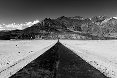 Journey or Destination (Umair Nasir's) Tags: skardu shigar desert road black white pakistan cold