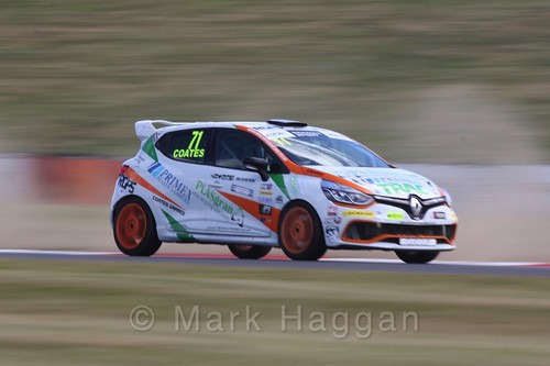 Max Coates in the Clio Cup during the BTCC 2016 Weekend at Snetterton