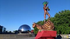La villette (THEfunkyman) Tags: brazil paris bresil expo geode villette