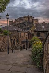 Sundown at Edinburgh Castle From the Old Town (Colin Myers Photography) Tags: sundown edinburgh castle from old town oldtown sun set sunset oldedinburgh scotland scottish edinburghcastle colin myers photography colinmyersphotography vennel