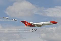 Oil Spill Response Escort 1, Farnborough Airshow, 2016 (Peter Cook UK) Tags: show team display air hampshire airshow oil boeing spill farnborough blades aerobatic response 727 2016 7272s2f gosra