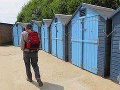 UK - Dorset - Swanage - Walking past beach huts (JulesFoto) Tags: uk england dorset clog centrallondonoutdoorgroup swanage isleofpurbeck walking beachhuts