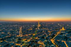 PARIS (ulambert) Tags: paris city lights night roof top montparnasse cityscape travel blue