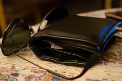 Sun Wallses (71Dave) Tags: home sunglasses wallet testing macro table gafas cartera casa interior