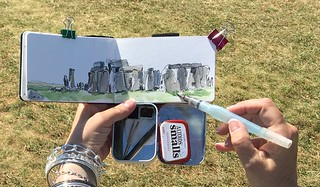 7/19/16 My little Altoids kit and me at Stonehenge