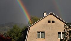 Rainbow In The Dark (Been Around) Tags: rainbowinthedark europe eu europa expressyourselfaward europeanunion worldtrekker travellers thisphotorocks concordians autriche aut a austrian upperaustria sterreich onlyyourbestshots obersterreich o sr steyr rainbow regenbogen